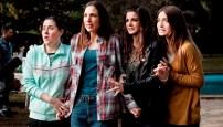 Las cuatro amigas, cada una demasiado en su rol estereotipado pero resultando así creíbles