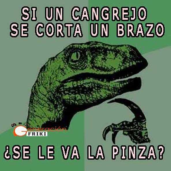 687) 23-10-14 Filosoraptor-cangrejo-pinza-Humor