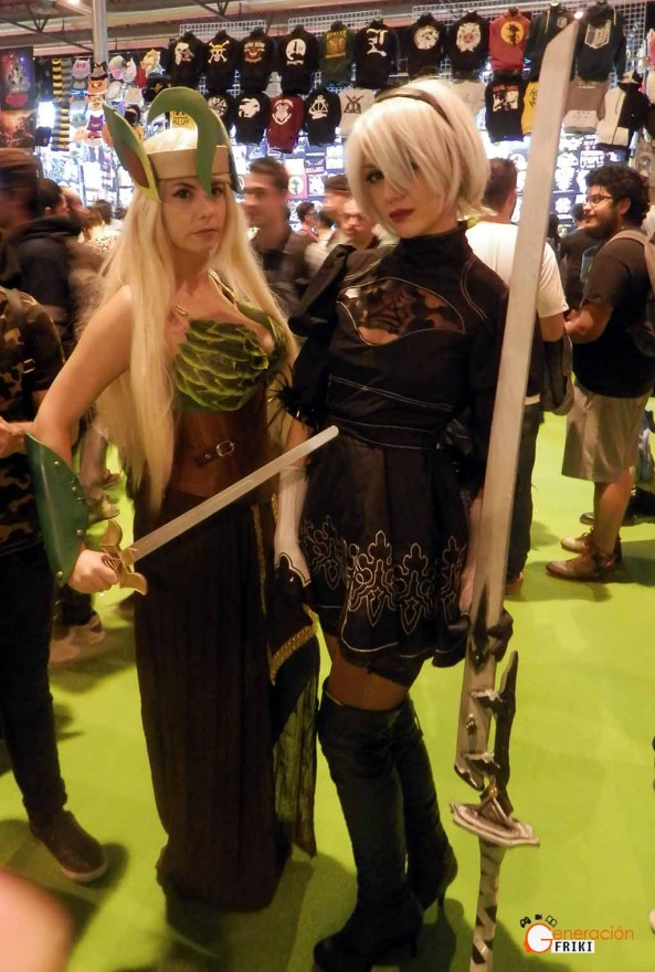 Madrid-Gaming-Experience-2017-Cosplay-Leafeon-(Pokemon)-2B-(Nier)