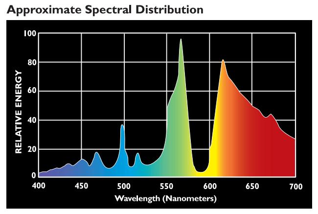 Spectral Chart For Incandescent Lights