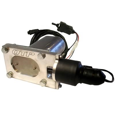 qtp oval electric exhaust cutout 2 1 4 x 3 3 8