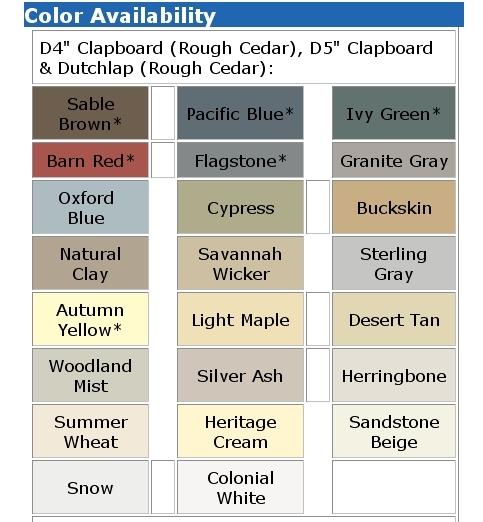 Certainteed Soffit Colors