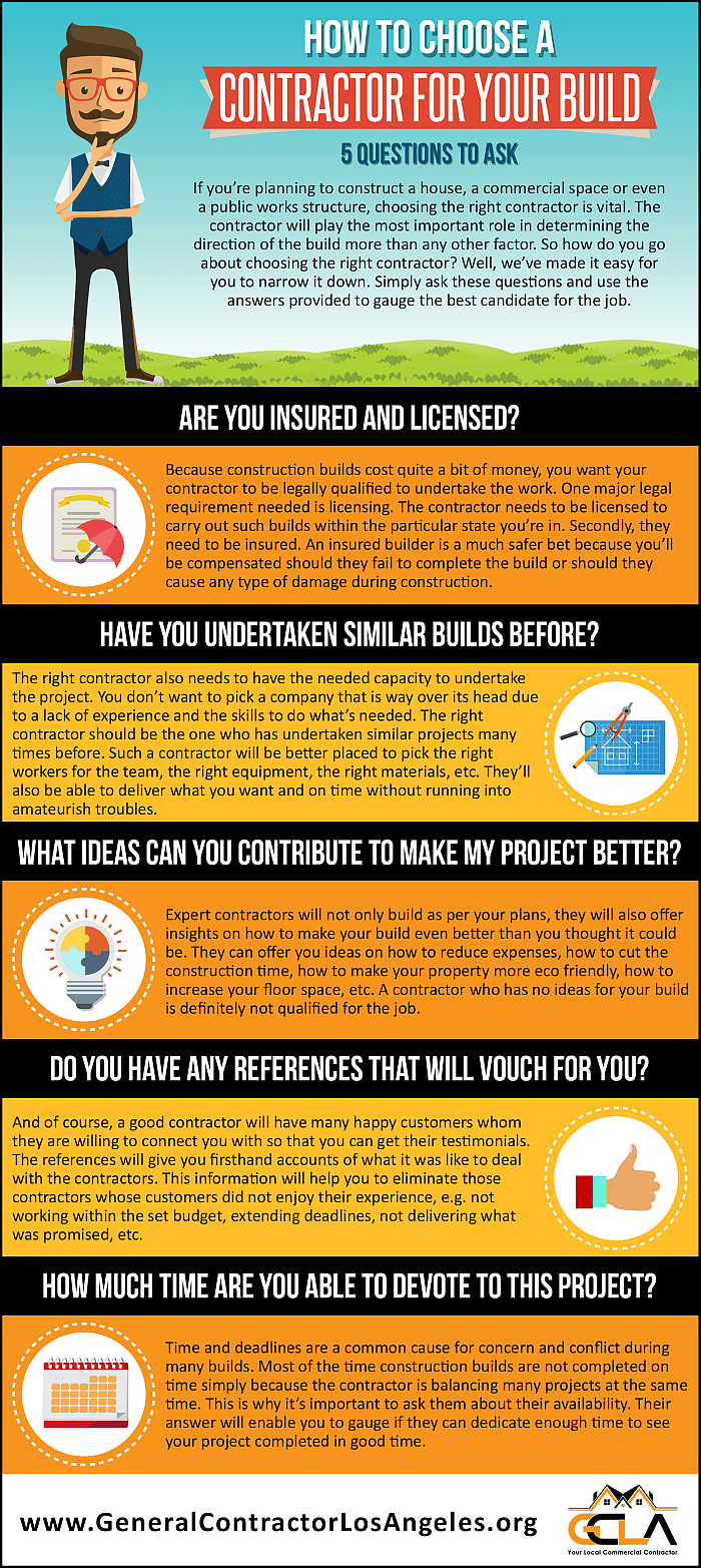 How to choose a contractor for your build 5 questions to for Questions to ask a builder