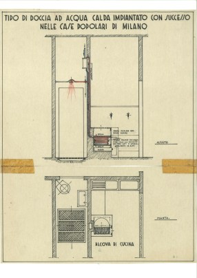 Shower type design for popular housing (1942)
