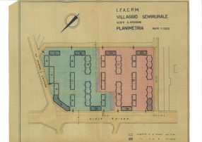 Planimetry for I.F.A.C.P.M. village planning in Sesto San Giovanni (MI) (1942)