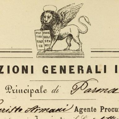 Mandato agenziale di Parma (1860), particolare del leone / ph. Duccio Zennaro