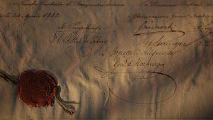 Firme della Direzione in calce all'elenco dei primi azionisti (Trieste, 24 aprile 1832)