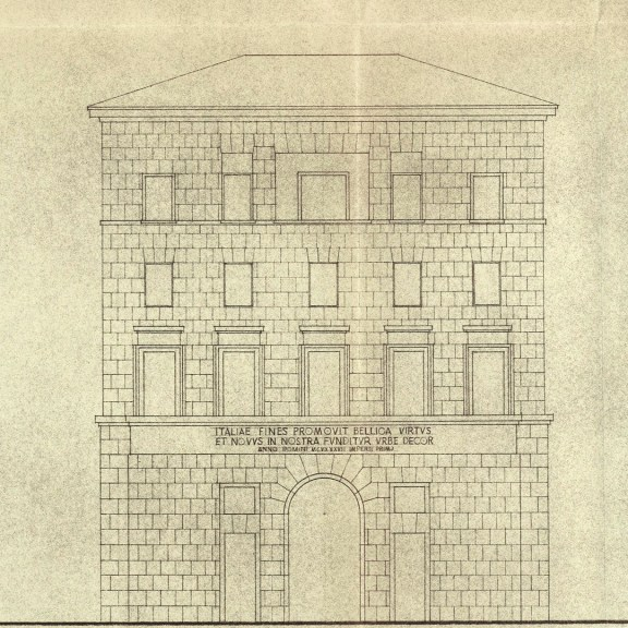 Detail of the prospectus of the building on Corso del Rinascimento, unrealised (1940 ca.)
