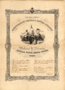 Life insurance policy for Francesco Mecchia (Trieste, 1 April 1840)