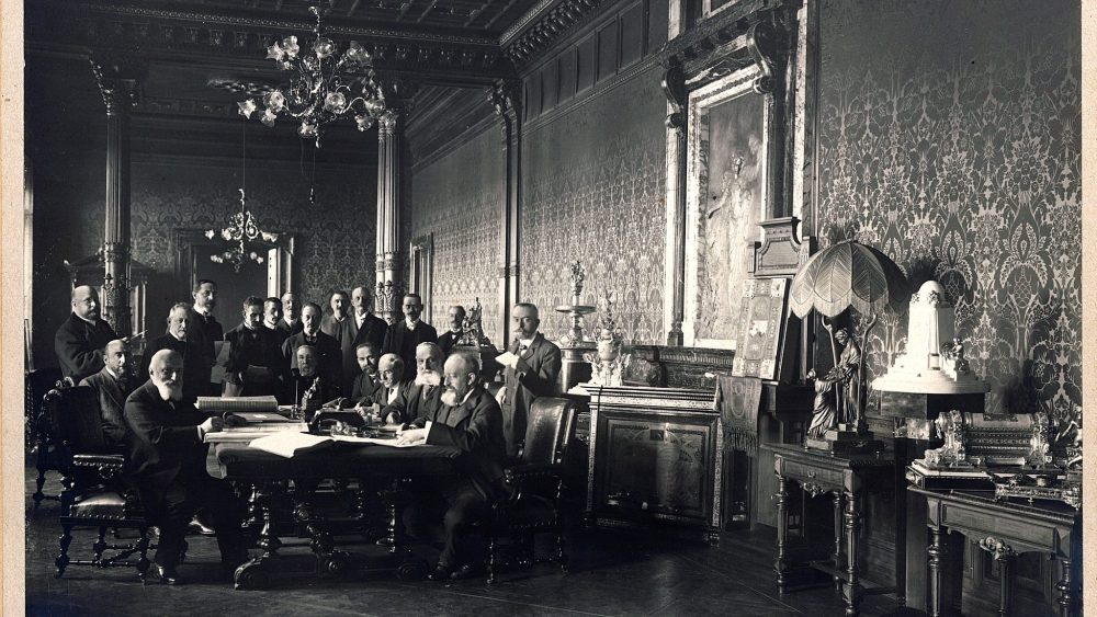 The Generali Management at Palazzo Geiringer (Trieste, 1907)