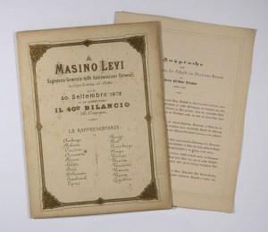 Diploma of Masino Levi (1872) / ph Duccio Zennaro
