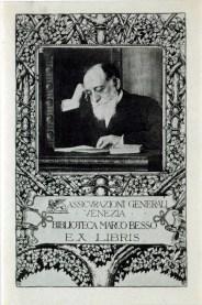 Marco Besso in the ex libris of the Marco Besso Library in Venice [1919] / ph. Duccio Zennaro