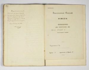 Progetto by Daniele Francesconi (1860), detail of the signature / ph. Duccio Zennaro