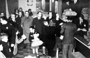 Celebrations of the Fascist Befana in the Palazzo Stratti's Sala Duca d'Aosta (Trieste, 1942)