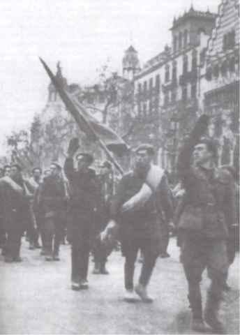 El Ejército Nacional liberando Barcelona
