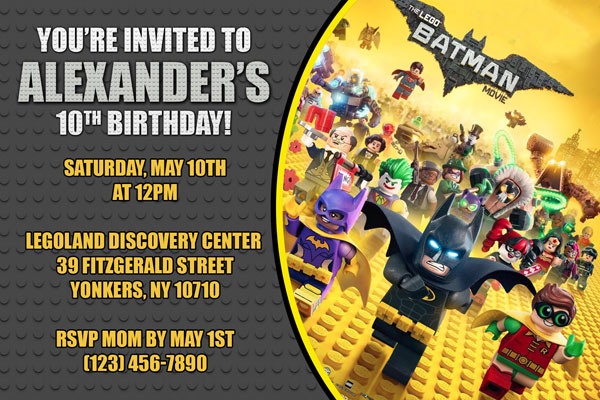 Lego Batman Movie Invitations General Prints
