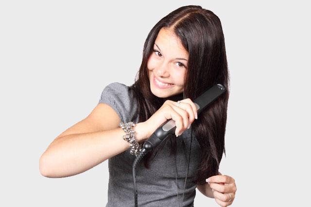 Hot Iron Hair Straightening