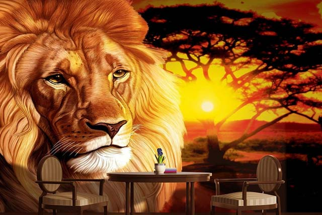 King of the Jungle Wall Mural