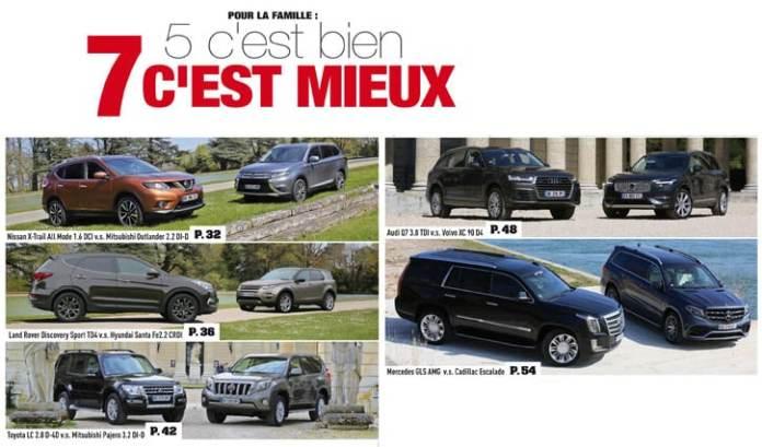 comparatif SUV 7 places