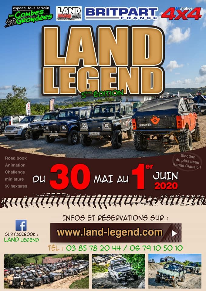 Land legend 2020 rassemblement Land Rver en Juin