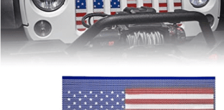 Jeep grille de calandre protectrice aux couleurs Stars and Stripes...