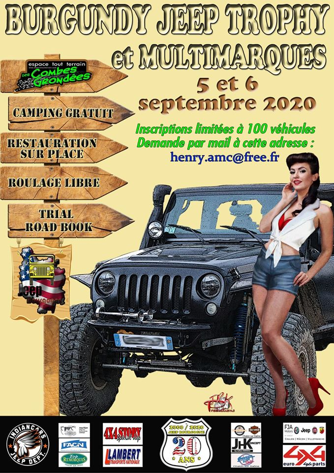 Burgundy Jeep Trophy 2020 Rassemblement Jeep reporté en septembre