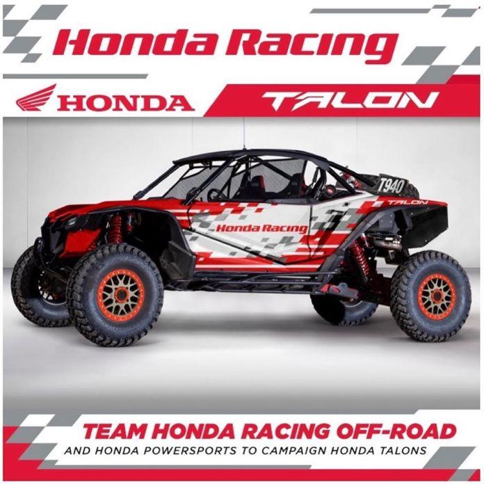 L'équipe Honda Off Road s'est associée à Honda Powersports USA et fera la saison