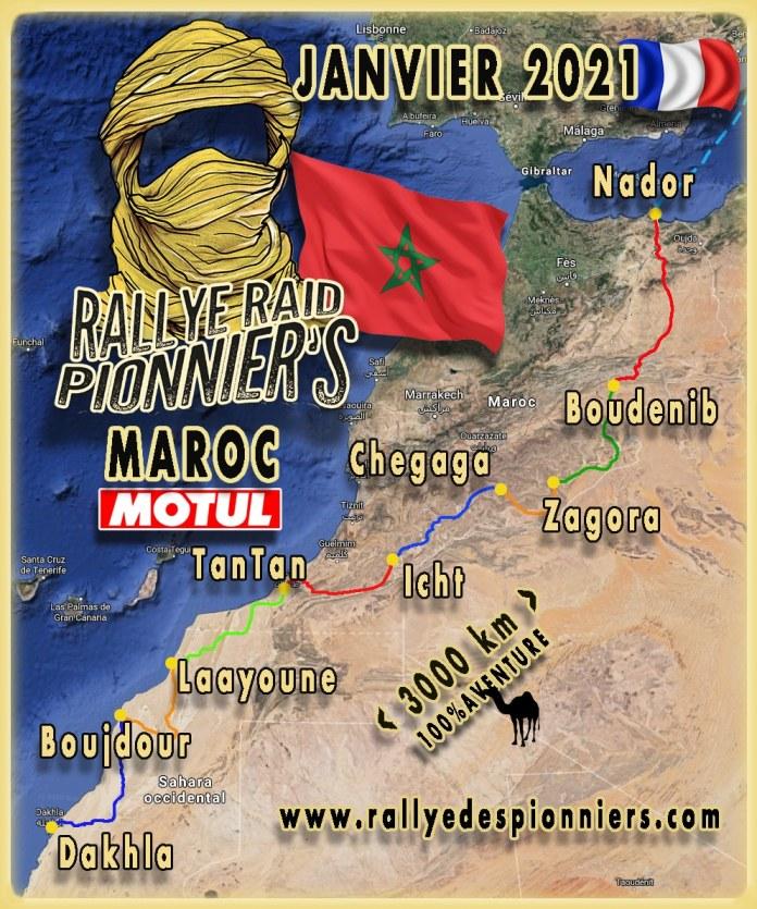 Rallye des Pionniers Paris-Dakhla janvier 2021