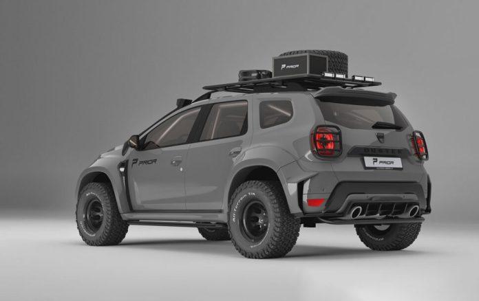 le Dacia Duster revoit ses suspensions à la hausse pour afficher un débattement sans précédent, en recourant à un kit de suspensions H&R.