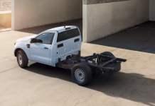 Ford Le Ranger version châssis-cabine prêt à la conversion