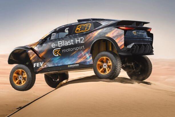 GCK e-Blast H2 Dakar 2024 Premières images dans les dunes !