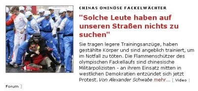 "<i>Der Spiegel</i> story saying, ""There's no way people like that should be allowed on our streets."""