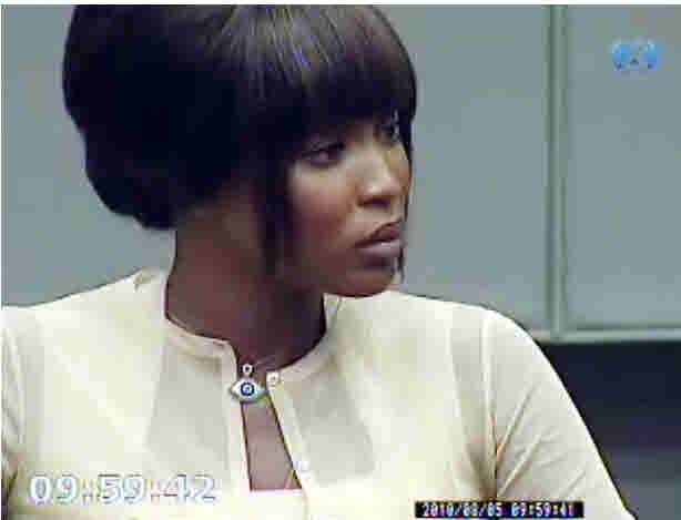 Naomi Campbell in court <font size=-2>(Source: Telegraph)</font>
