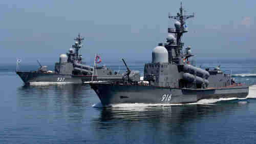 Russian warships in the Mediterranean (Russia Today)