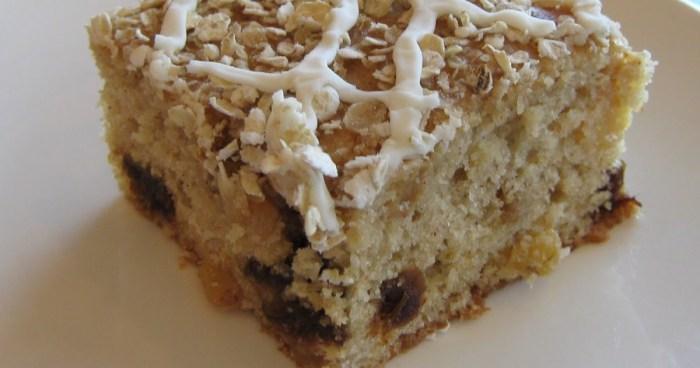gâteau farine d'avoine