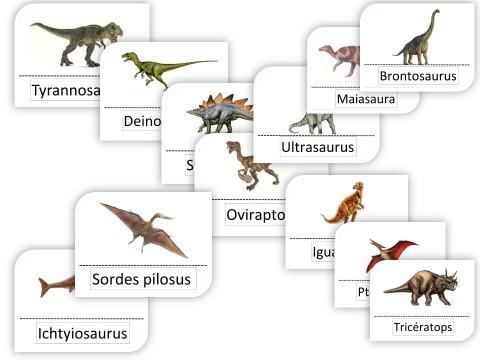 photos dinosaures et leurs noms