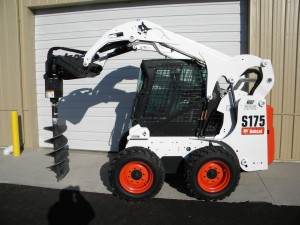 rental excavation tools Bobcat S175 with Auger Attachment