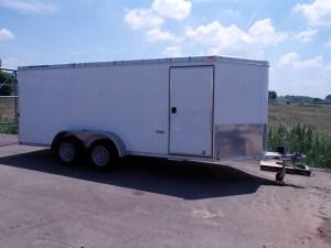 16' enclosed trailer