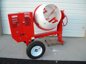 cement mixer 9 cubic ft gas concrete rental