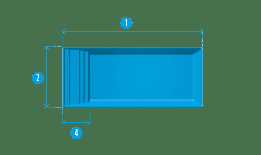 longue piscine en kit modele bendor