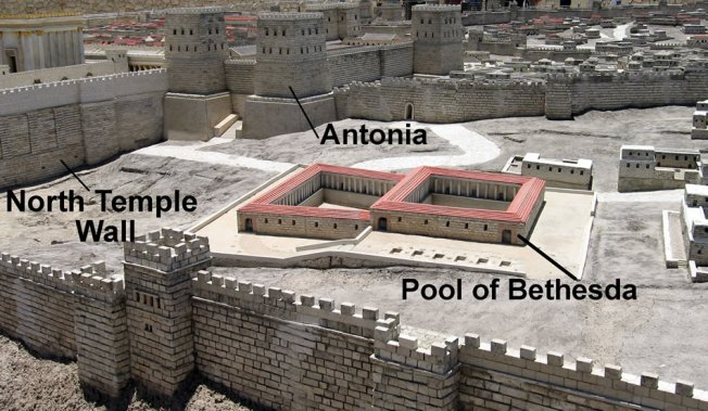 The Pool of Bethesda as it may have appeared in Jesus' time