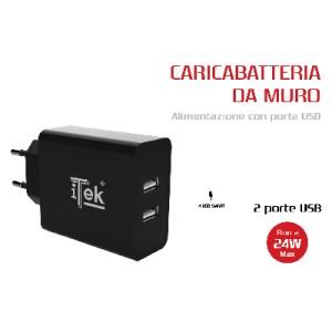 CARICABATTERIA DA MURO ITEK DA 24W