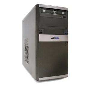 PC WINBLU ENERGY L3 4057W10 H310 INTEL I3-8100 8GBDDR4-2400 240SSD DVDRW VGA+DVI-D PCI-E T+M W10PRO/64 2Y ONSITE