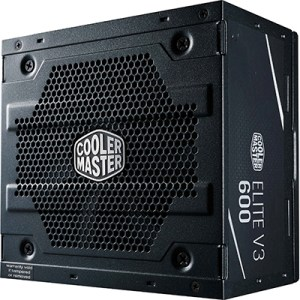 Alimentatore Atx 600w Coolermaster Elite 600 V3 Mpw-6001-acabn1-eu Pfc Attivo Efficienza 82% 240vac Fan120mm Cavo Eu
