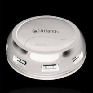 Hub Usb2.0 7p Atlantis P014-gh902-w Bianco Lucido Con Alimentatore Ac E Cavo Avvolgibile - Ean 026974014067 -garanzia 2 Anni-