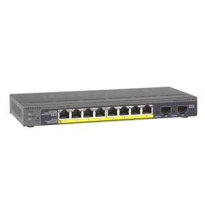 Switch Netgear Gs110tp-200eus 8p Lan Giga Poe+2 Slot Per Mod. Sfp Web-managed Desktop -garanzia A Vita Fino:31/07