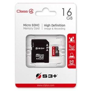 Micro Secure Digital 16gb S3sdc4/16gb Class4 + Adattatore S3+