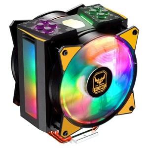 Ventola X Cpu Cooler Master Mam-t4pn-afnpc-r1 Ma410m Rgb Tuf Intel Lga1150/2066 Amd Am4/fm1 120x120x25mm 6-31dba 600-1800rpm 4p