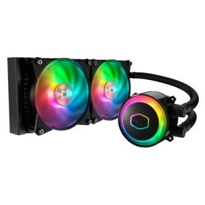 Diss A Liquido Cooler Master Mlx-d24m-a20pc-r1 Ml240r Rgb Intel Lga 775>2066 Amd Am4>fm1 2x120x120x25mm