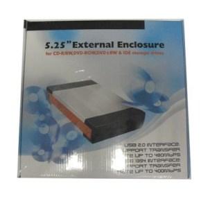 """Box Est. X Drive 5.25"""" Icb5a Cd-r/rw/dvd Usb+ieee1394a 2.0 Alluminio/silver"""